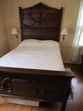 Antique Complete Wood Bed, Krug Bros & Co., #530