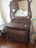 Antique Krug Bros & Co., Dresser with Mirror, #530