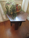 Vintage Wood Plant Stand and 2 Planters