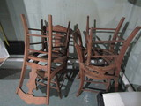 Lot of 4 Antique/Vintage Caine Seat Chairs, No Seats