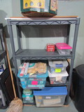 Shelf with Contents, Electrical Items, Bird Feeder
