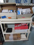 Shelf Unit with Contents, Light Bulbs