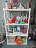 Shelf Unit with Contents, Cleaning