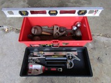 Tool Box with Tools and Level