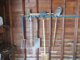 Contents on Wall, Shovels, Chain
