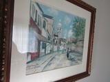 Maurice Utrillo Large Print, Framed