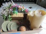 Home Decor, Flicker Candles, Coasters, Flowers