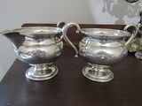 Sterling Silver marked 523 Sugar and Creamer