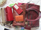 Lot of 4, New Leather Purses, Wallets, Eyeglass Holders