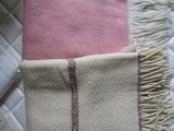 2 Wool Blend Afghan Throw Blankets