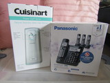 New Cuisinart Can Opener and Panasonic Cordless Phone and Answering Machine