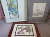 Lot of 3 Signed Small Art