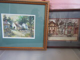Lot of 2 Art Pictures, One Signed
