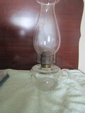 Antique Oil Lamp with Stamped Empire Shade
