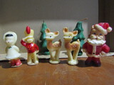 Vintage Novelty Candles, Santa, Christmas Tree, Reindeer