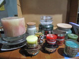 Lot of Candles and Holders, Yankee