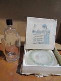 Art Deco Hand Bottle and Powder Jar with Original Box