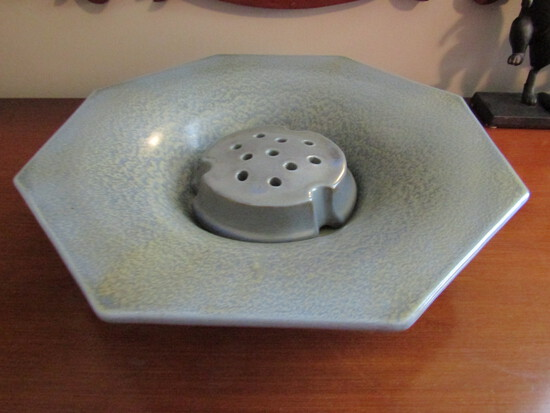 1930 Weller Ware Console Bowl with Frog, unmarked
