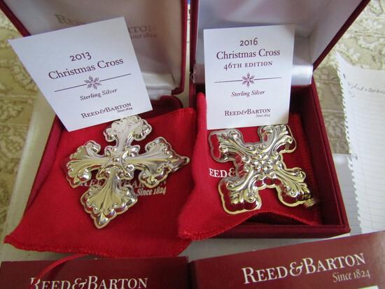 Sterling Silver Reed & Barton L.E. 2013 & 16 Ornaments, 1.29 oz