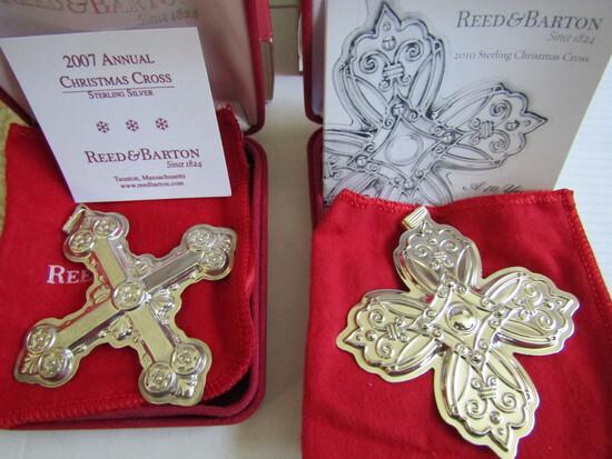 Sterling Silver Reed & Barton L.E. 2007 & 10 Ornaments, 1.13 oz