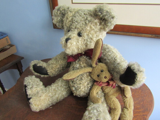Curly Fur Bear and Ganz Bunny