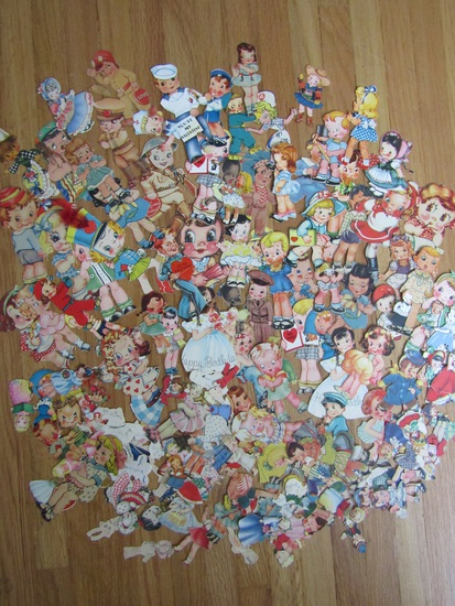 Huge Lot of Vintage Valentine Cut Outs and Others