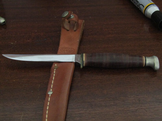Vintage Kabar Knife and Sheath, in Good Condition