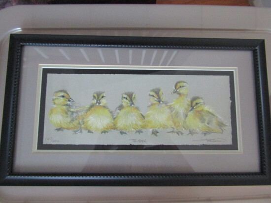 """Signed and Numbered Art, Titled """"The Hatch"""", Ducklings, 147/1000"""