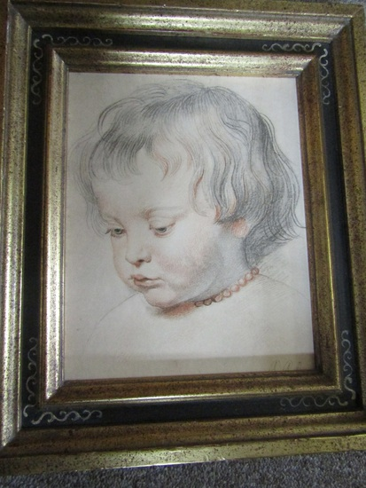 """Signed Peter Paul Rubens Print Title 7478 """"Artists Son"""""""