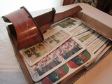 Stereograph Wood Viewer and Stereograph Cards