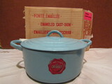 Schiller & Asmus Cast Iron and Enamel French Oven Cookpot, New, Made in France