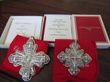 Sterling Silver Reed & Barton L.E. 1972 & 79 Ornaments, .95 oz