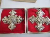Sterling Silver Reed & Barton L.E. 1973 & 76 Ornaments, 1.08 oz