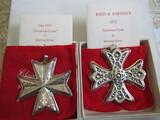 Sterling Silver Reed & Barton L.E. 1975 & 77 Ornaments, 1.32 oz