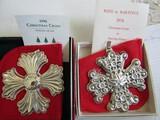 Sterling Silver Reed & Barton L.E. 1974 & 96 Ornaments, 1.45 oz