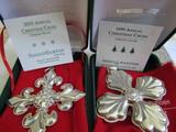 Sterling Silver Reed & Barton L.E. 1999 & 05 Ornaments, 1.16 oz