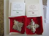 Sterling Silver Reed & Barton L.E. 1983 & 88 Ornaments, .98 oz