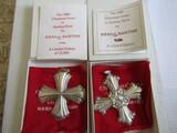 Sterling Silver Reed & Barton L.E. 1980 & 85 Ornaments, .91 oz