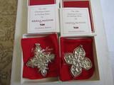 Sterling Silver Reed & Barton L.E. 1984 & 87 Ornaments, .94 oz