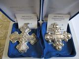 Sterling Silver Reed & Barton L.E. 2000 & 02 Ornaments, 1.23 oz