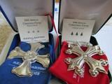 Sterling Silver Reed & Barton L.E. 1998 & 2001 Ornaments, 1.06 oz