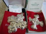 Sterling Silver Reed & Barton L.E. 1992 & 2006 Ornaments, 1.36 oz
