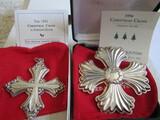 Sterling Silver Reed & Barton L.E. 1991 & 1996 Ornaments, 1.12 oz