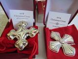 Sterling Silver Reed & Barton L.E. 2014 & 18 Ornaments, 1.17 oz