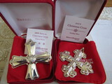 Sterling Silver Reed & Barton L.E. 2009 & 2011 Ornaments, 1.10 oz