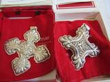 Sterling Silver Reed & Barton L.E. 1990 & 95 Ornaments, .62 oz