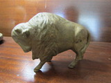 Antique Cast Iron Steel Buffalo/Bison Penny Bank