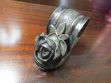 Antique Rose Quadruple Plate Victorian Napkin Holder