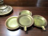 Roycroft Vintage Copper Ashtrays, Set of 4