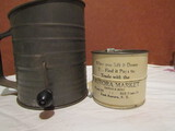 2 Vintage Flour Shifters, Small Sifter 1920s